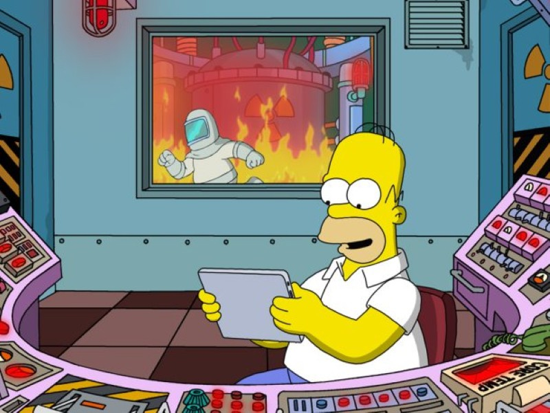 Homer working at the power plant