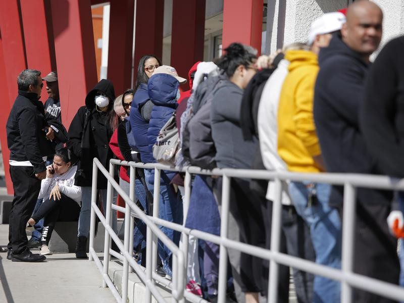 Unemployed people at the One-Stop Career Center in Las Vegas, Nevada