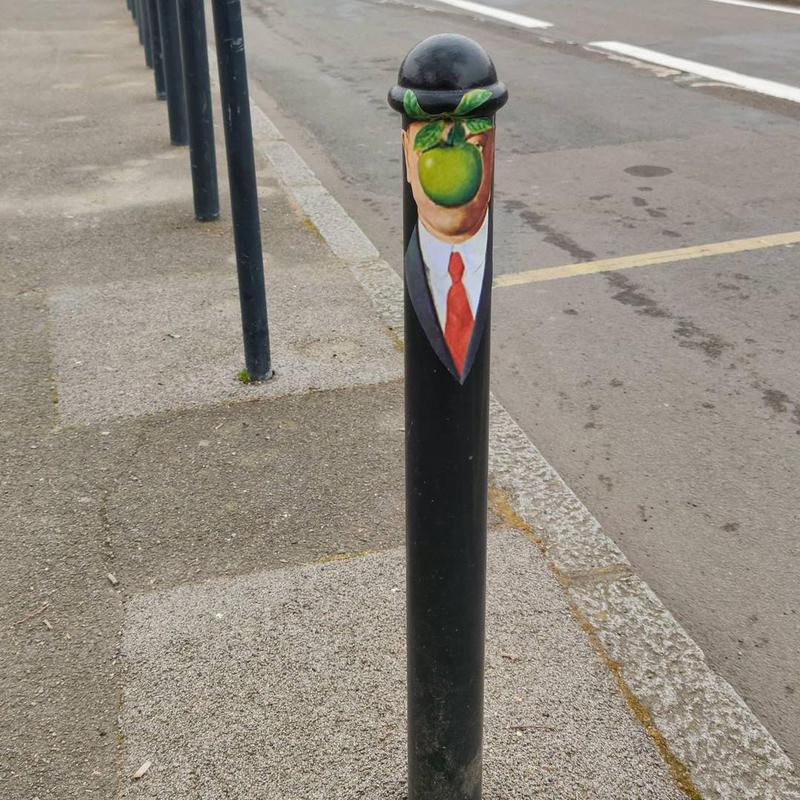 Magritte street art in Nantes, France