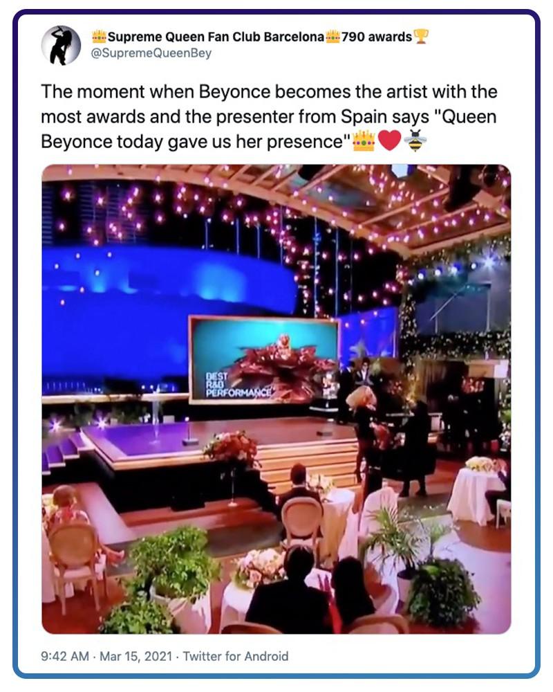 Beyoncé has won more Grammys than any performer