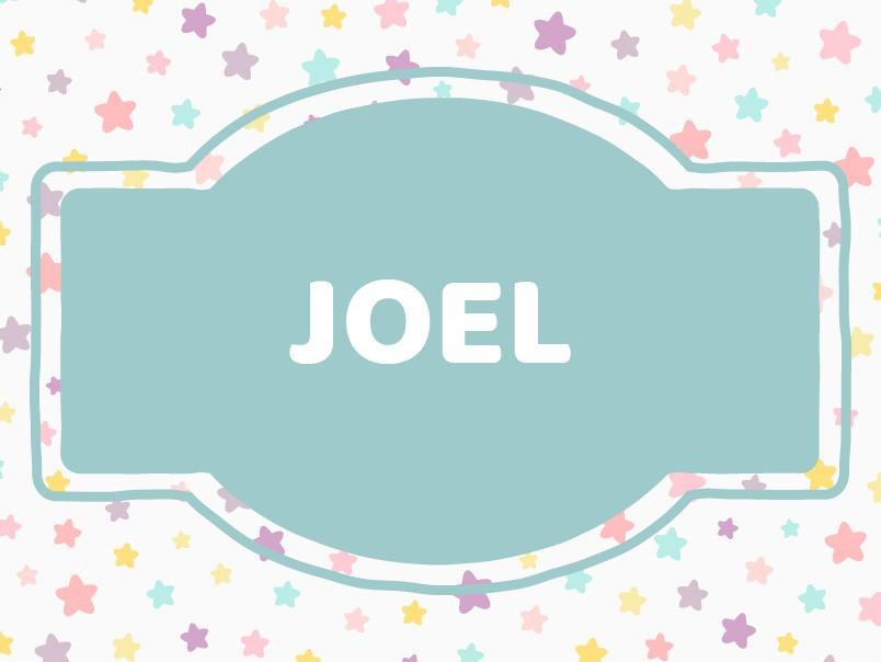 Baby Name Inspiration: Joel