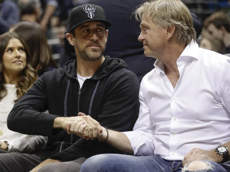 Aaron Rodgers and Wes Edens