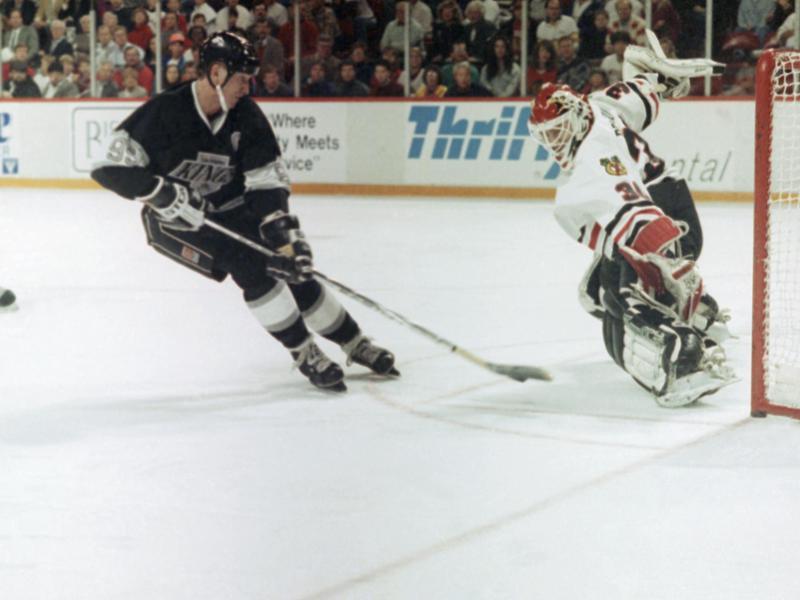 Wayne Gretzky and Ed Belfour