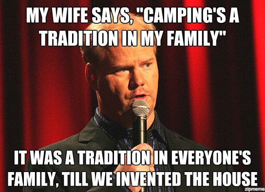 Family camping comedy meme