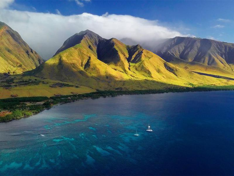 Aerial view of Maui, Hawaii