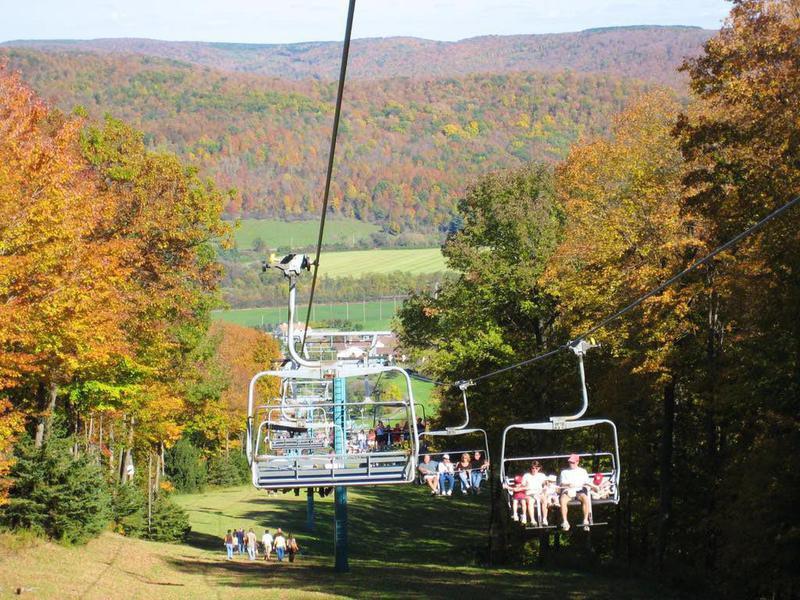 Fall Chair Lift Rides