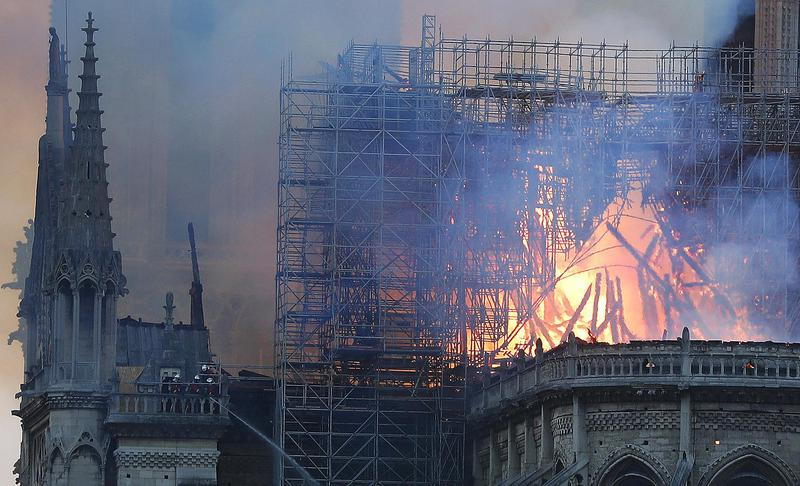 Notre Dame Cathedral in flames