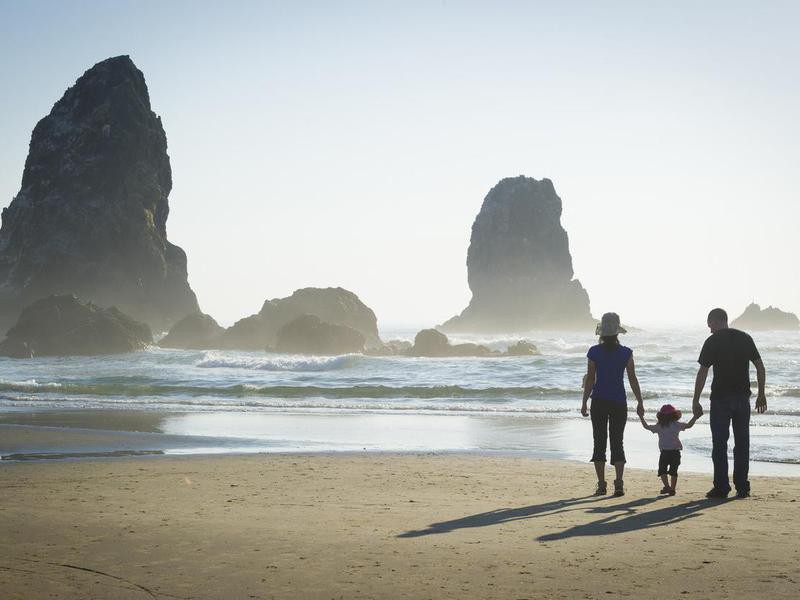 Family at Cannon Beach