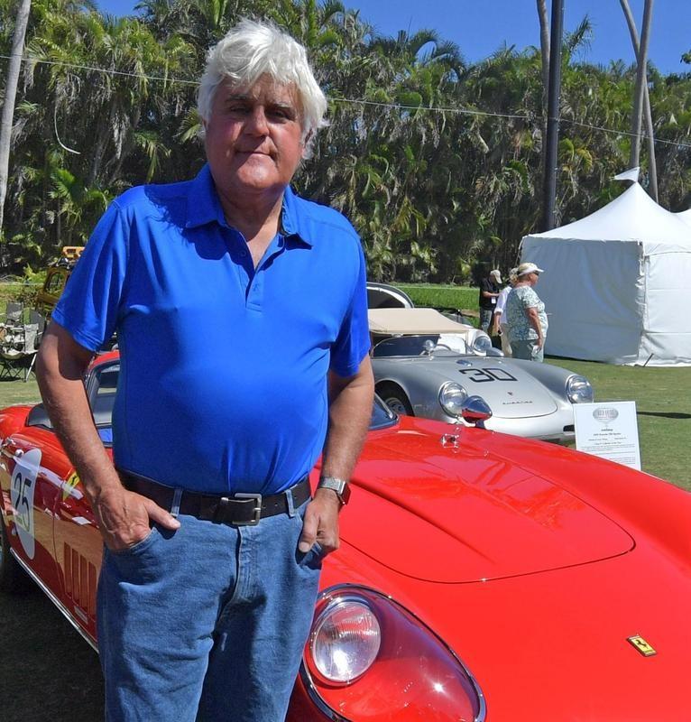 Jay Leno at a Boca Raton car show