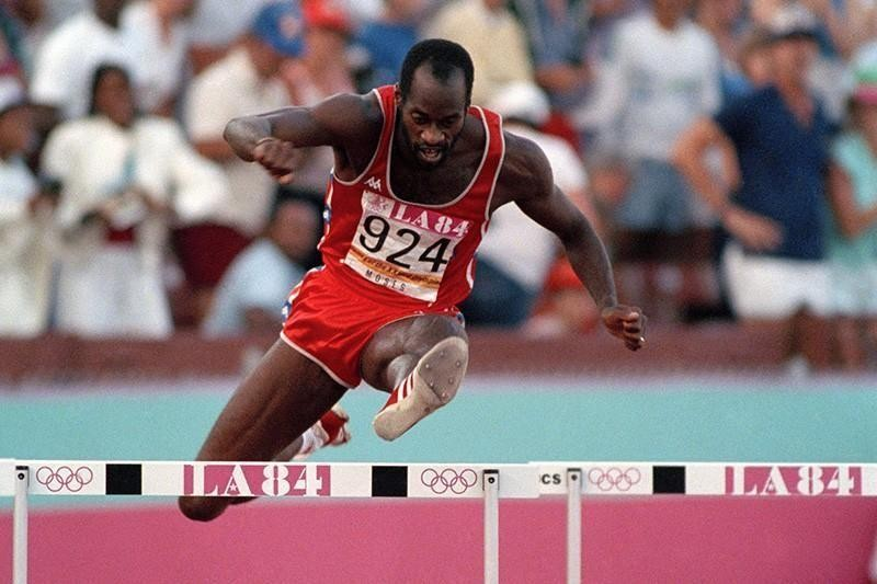 Edwin Moses at the 1984 Summer Olympics in Los Angeles