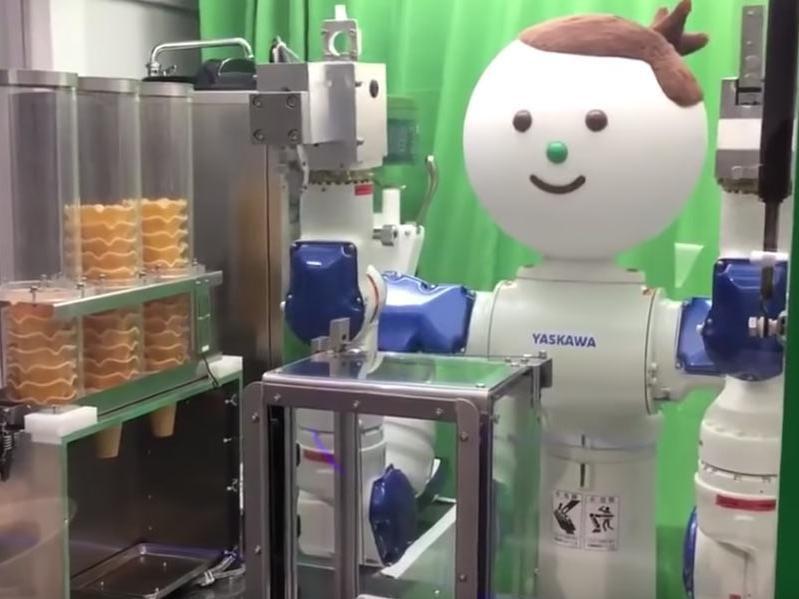 ice cream vending robot