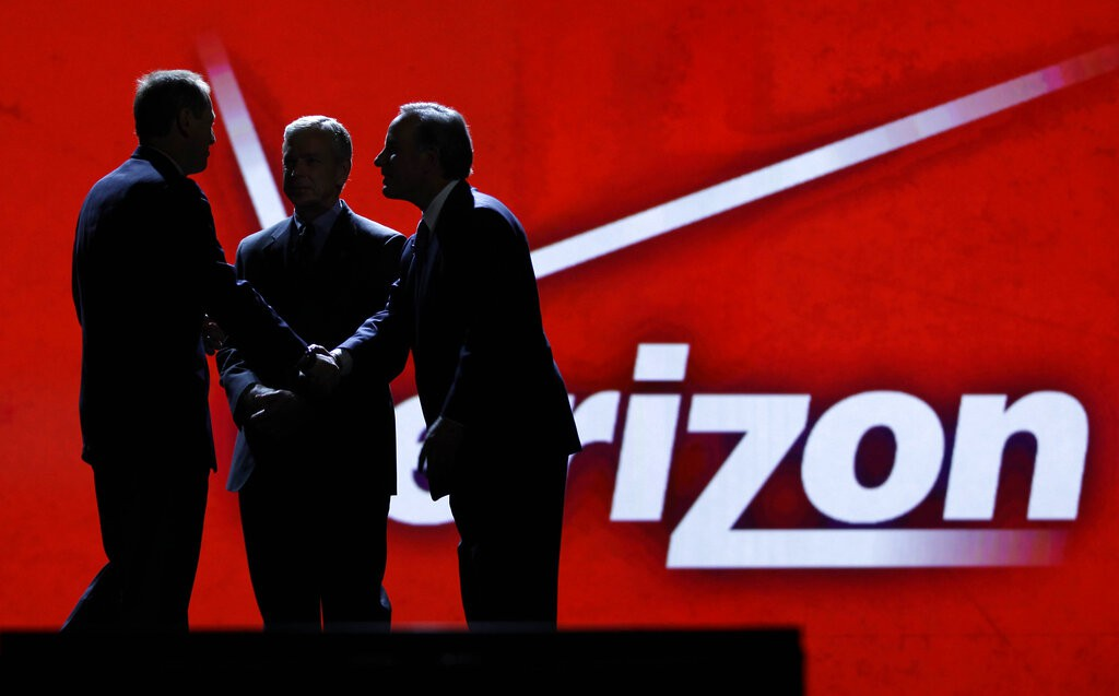 Verizon display at the Consumer Electronics Show in Las Vegas