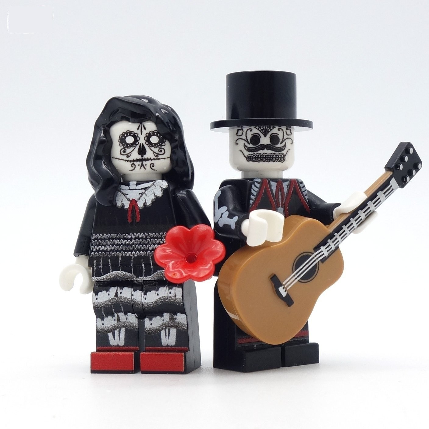 Custom Day of the Dead Lego minifigs
