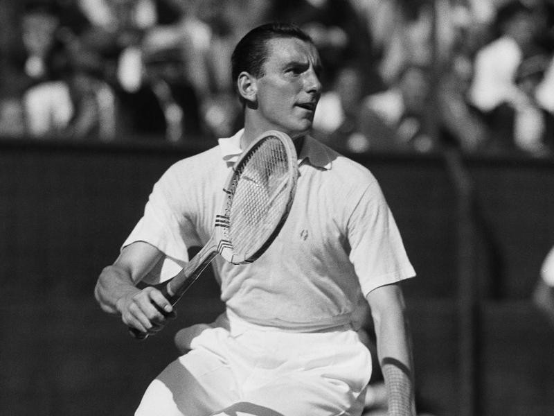British tennis player Fred Perry