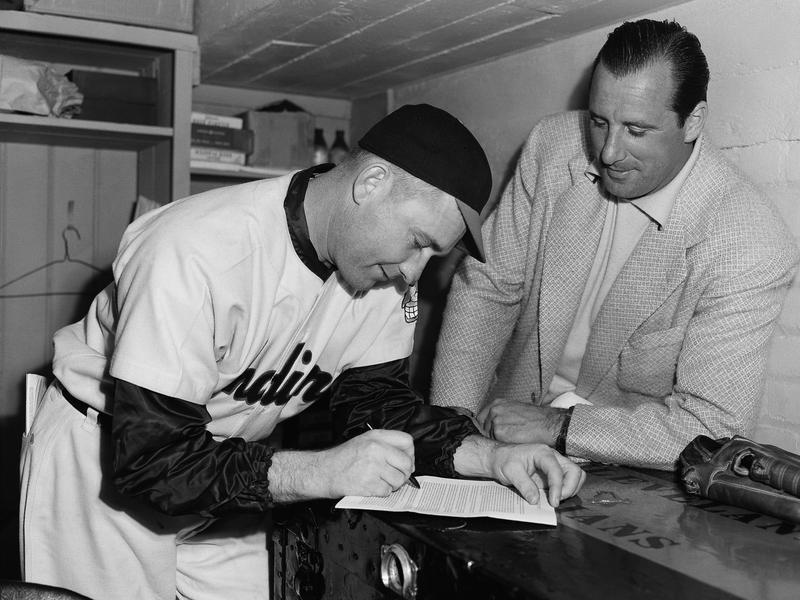 Bob Lemon and Hank Greenberg