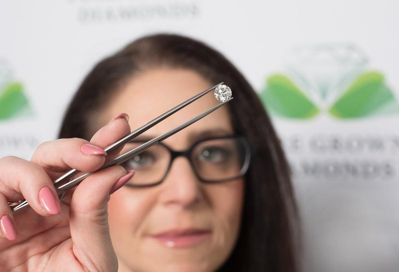 Synthetic, lab-grown diamond