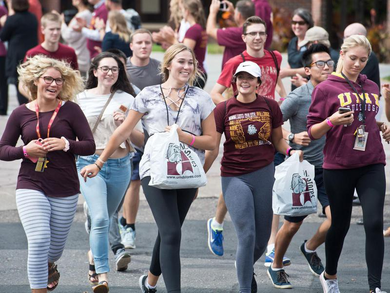Students at University of Minnesota Duluth