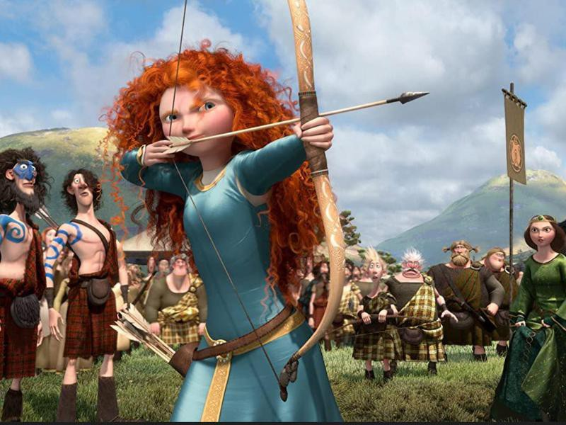 Merida with a bow in 'Brave'