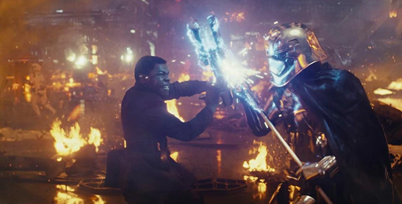 Gwendoline Christie and John Boyega in Star Wars: Episode VIII - The Last Jedi