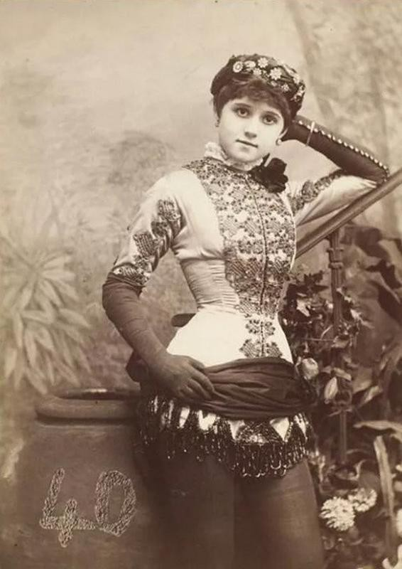Dance hall girl from the 1800s