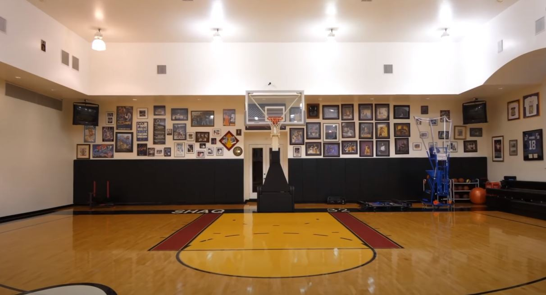Shaq's basketball court