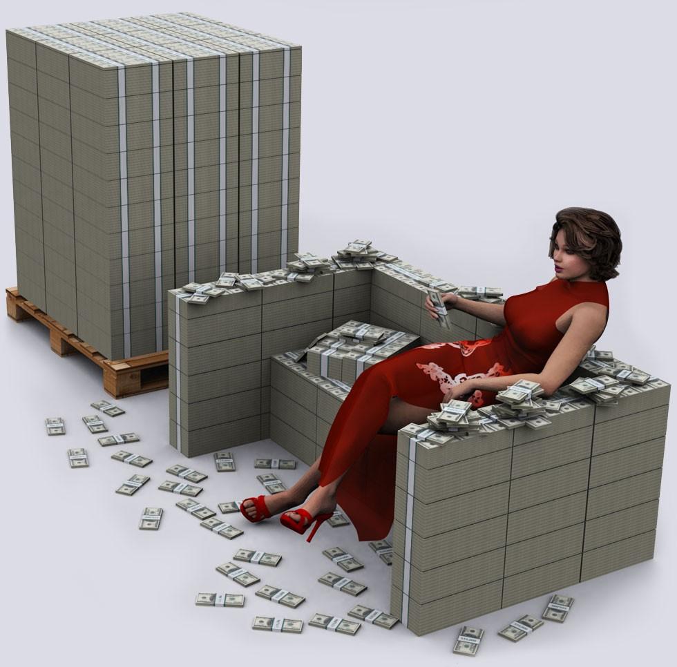 $100 million visualized