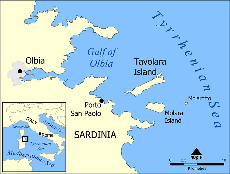Tavolara map