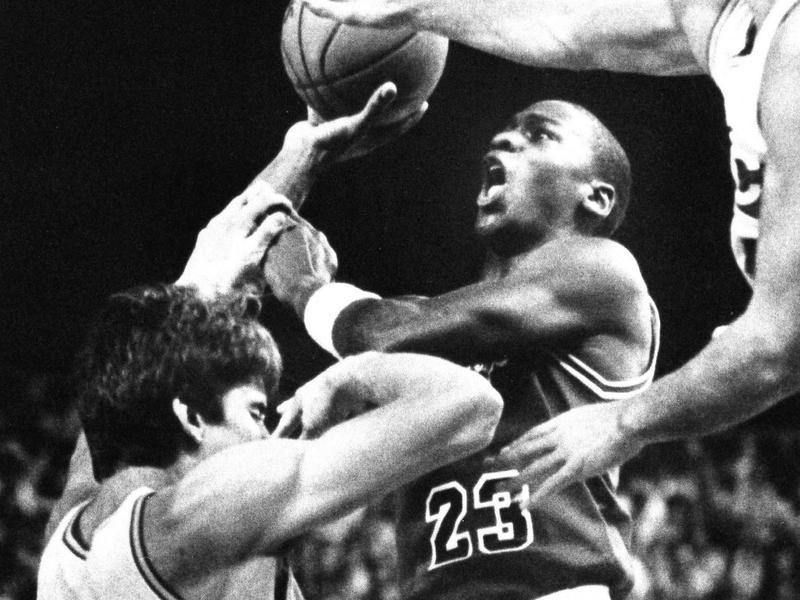 Chicago Bulls guard Michael Jordan