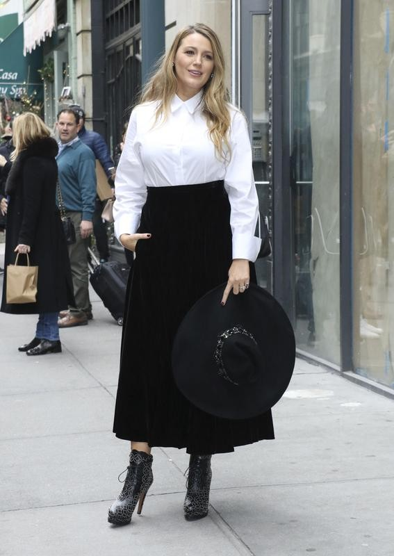 Blake Lively style at Paramount Pictures Rhythm Section talk
