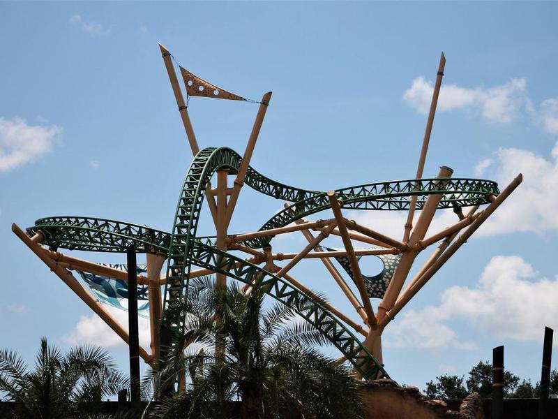 Roller coaster in Busch Gardens, Florida