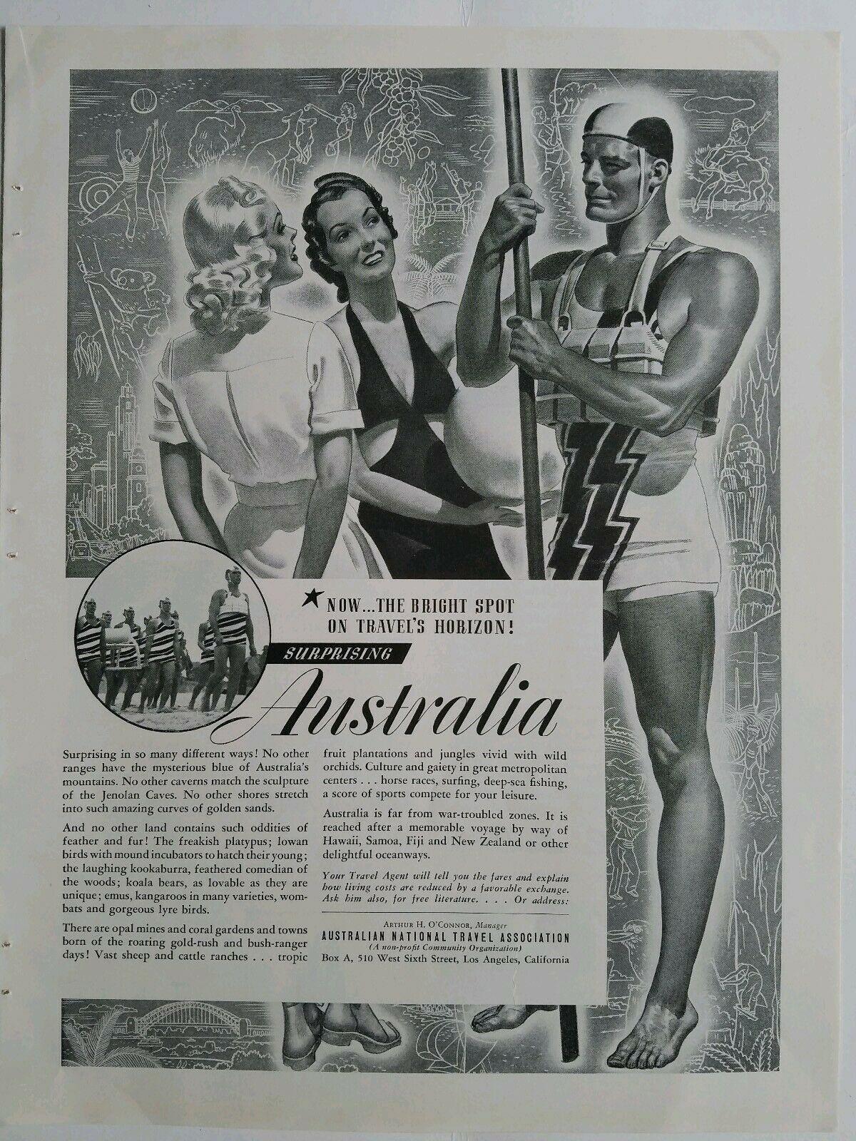 Vintage travel ad for Australia