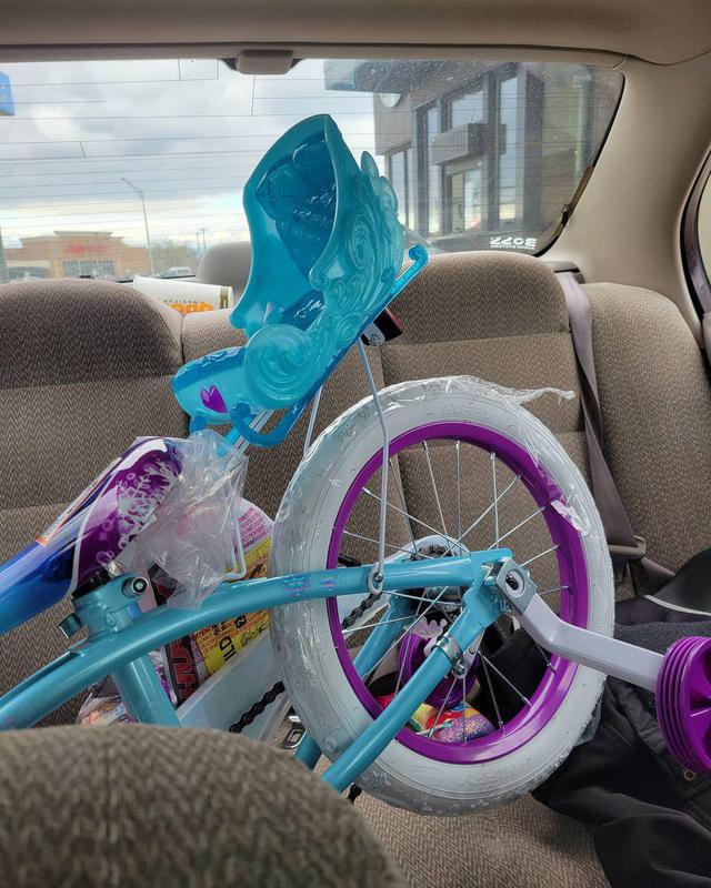 Bike in car