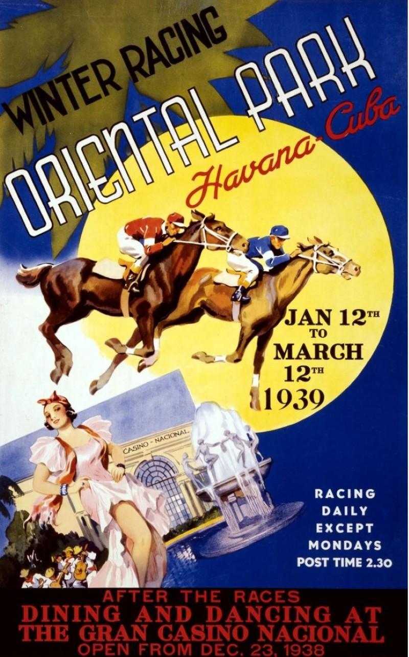 Vintage travel ad for Havana, Cuba