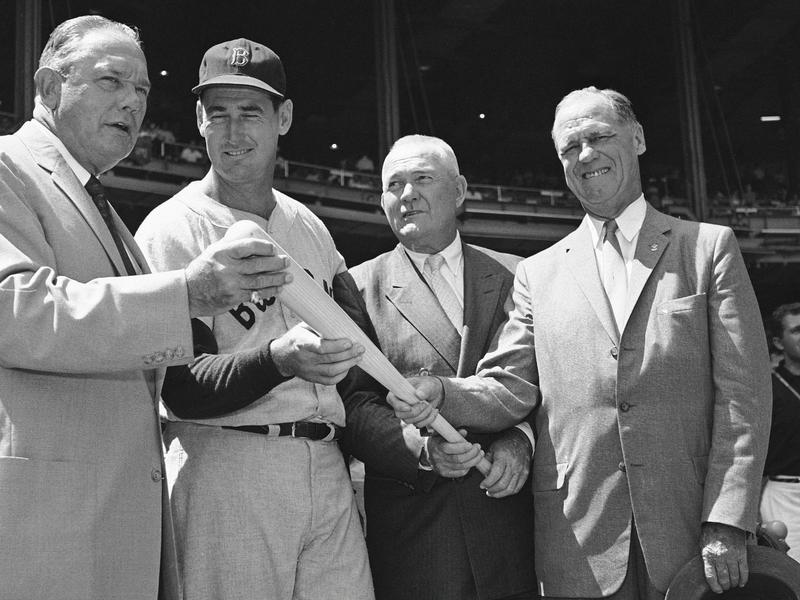 Bill Terry, Ted Williams, Rogers Hornsby, George Sisler