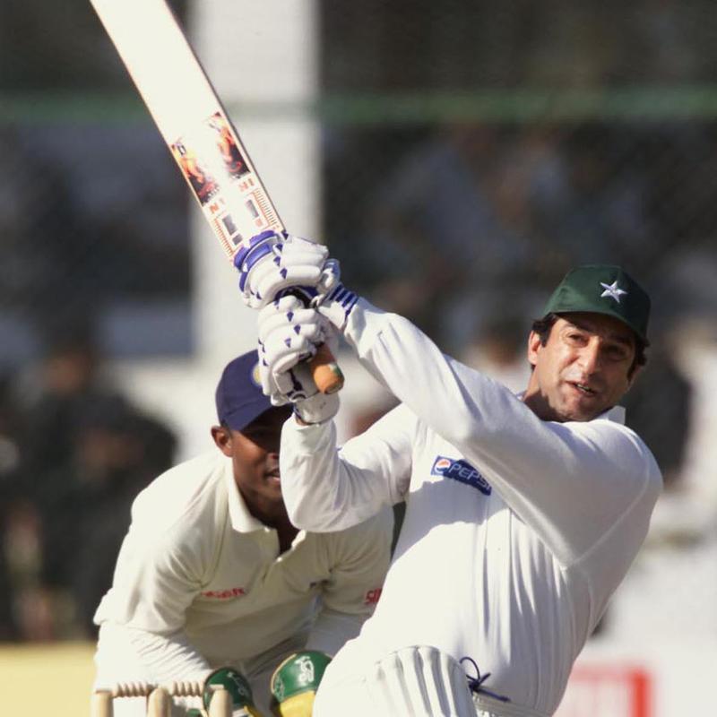 Wasim Akram hits