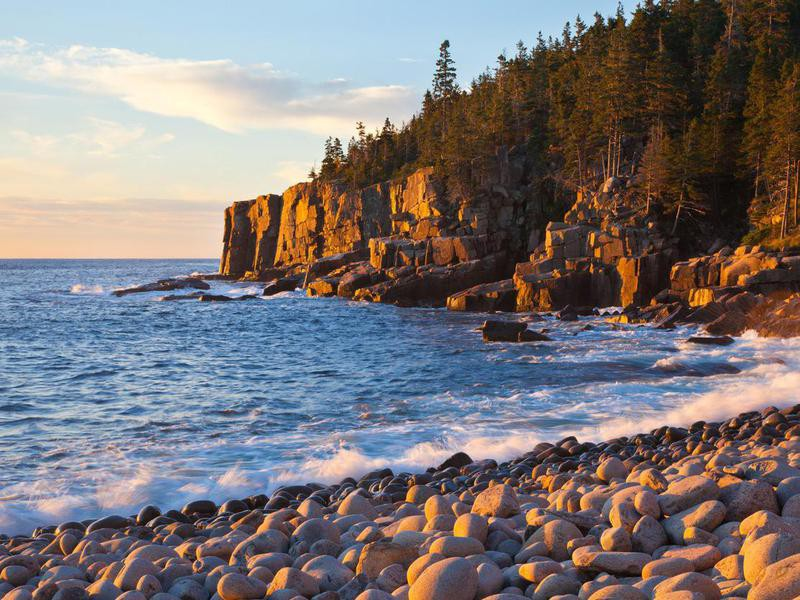 Cobblestone beach,  Acadia National Park