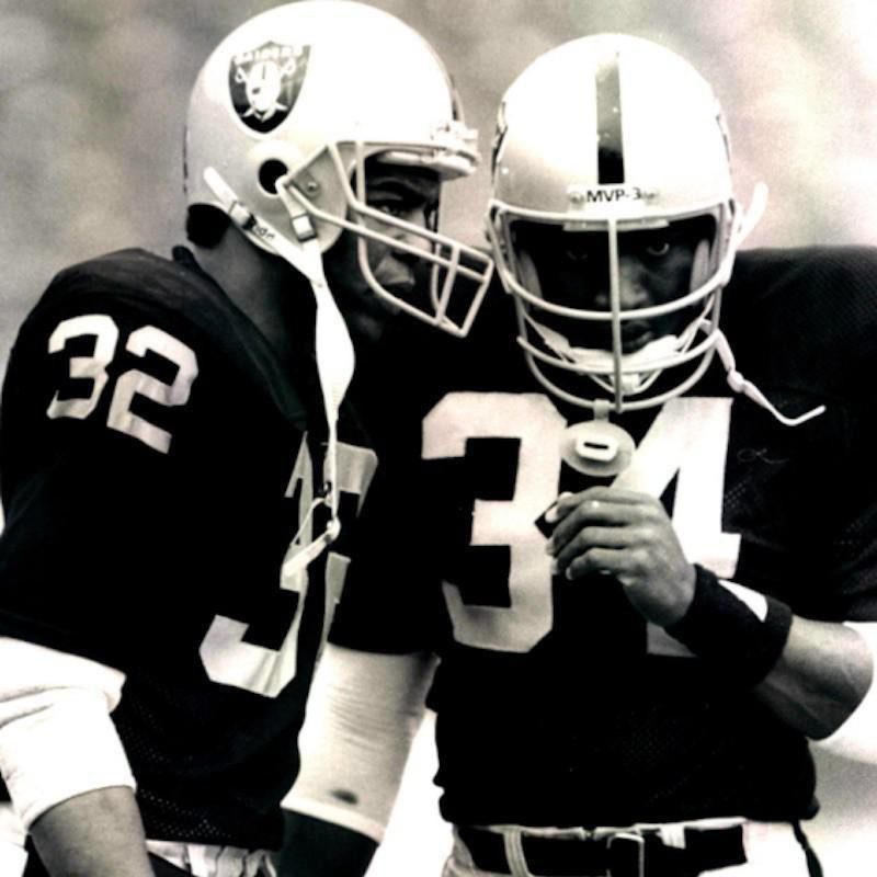 Marcus Allen and Bo Jackson