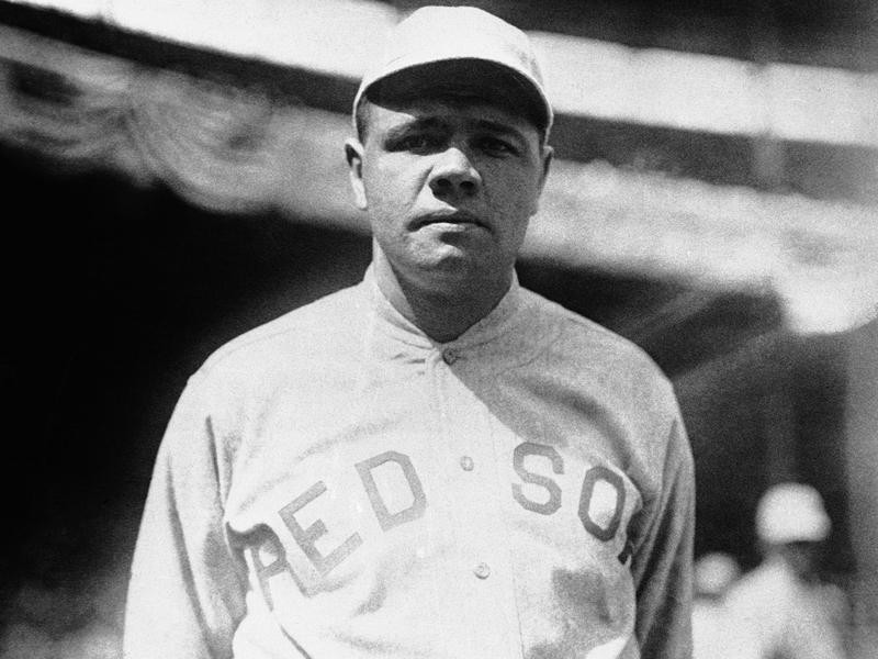Boston Red Sox pitcher Babe Ruth