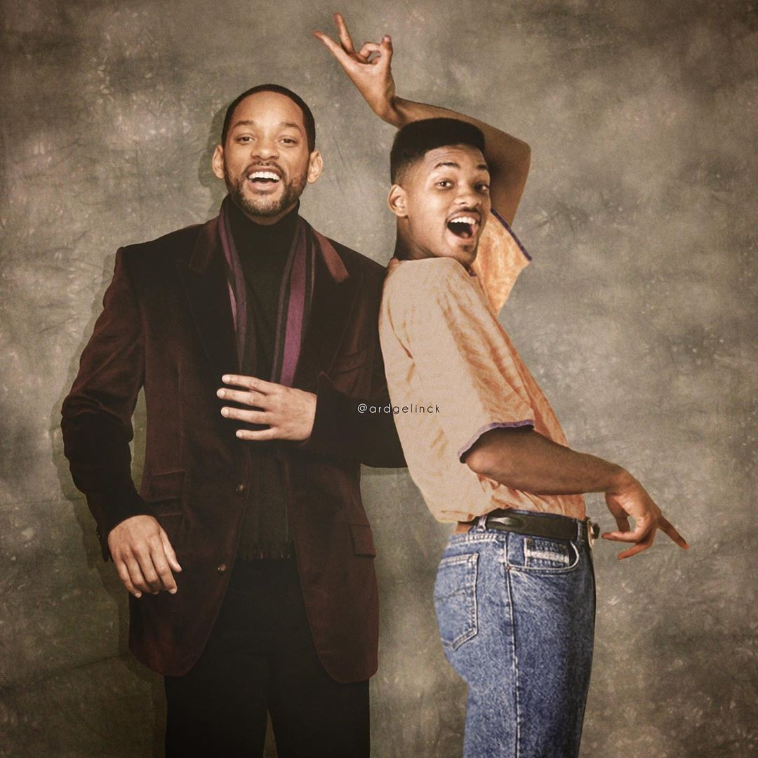 Will Smith young and old
