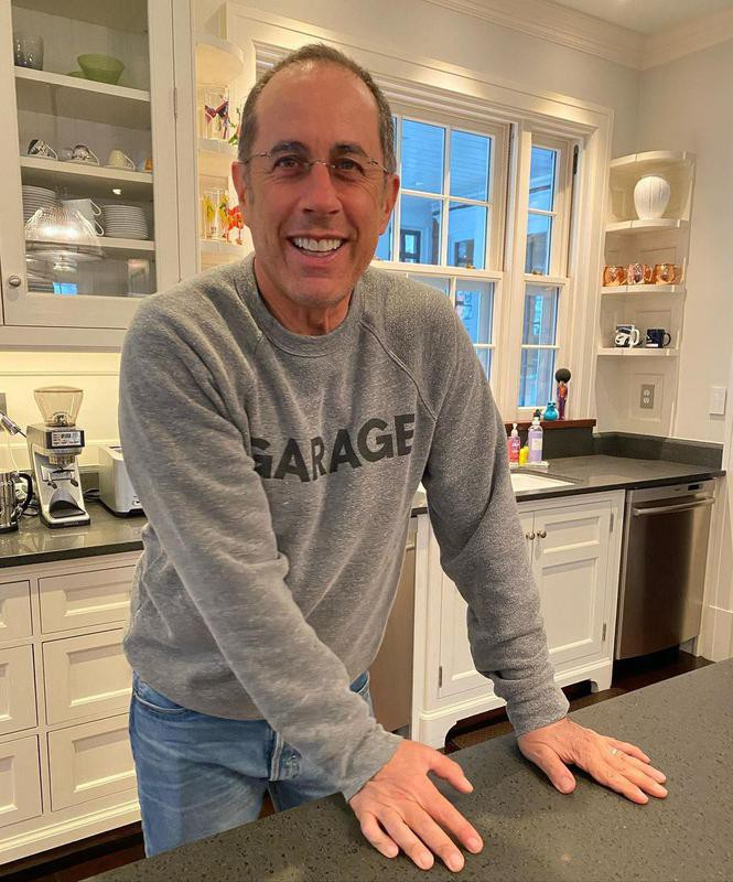 Jerry Seinfeld at home