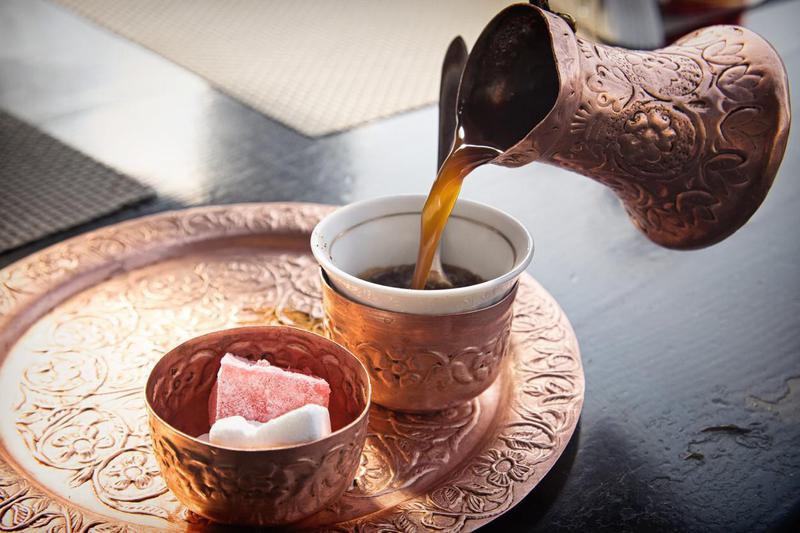 Bosnian coffee with lokum