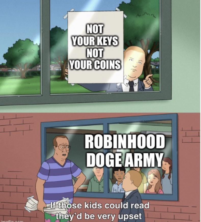 Robinhood dogecoin meme
