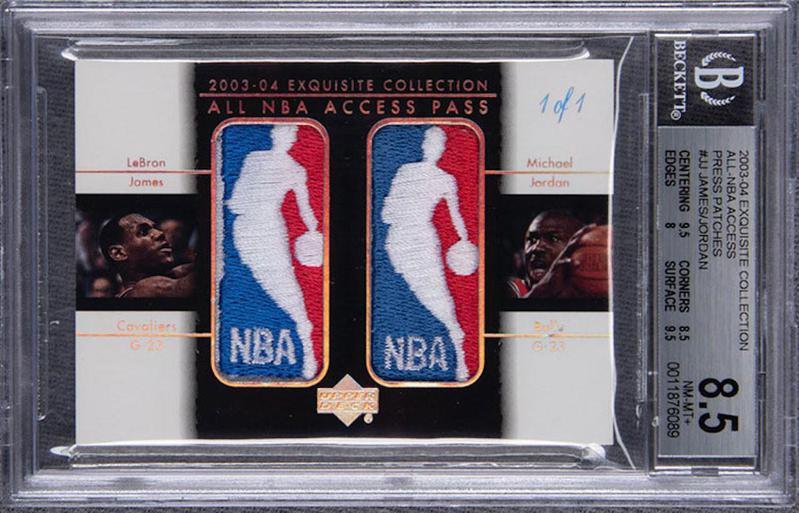LeBron James/Michael Jordan 2003-04 Upper Deck card