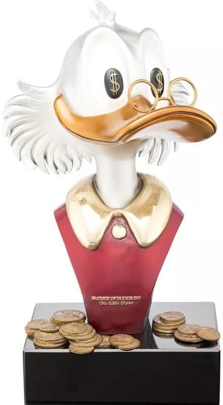 Scrooge McDuck bronze statue
