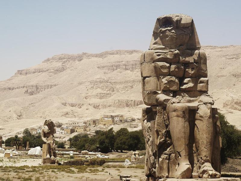 Pharoh sculpture