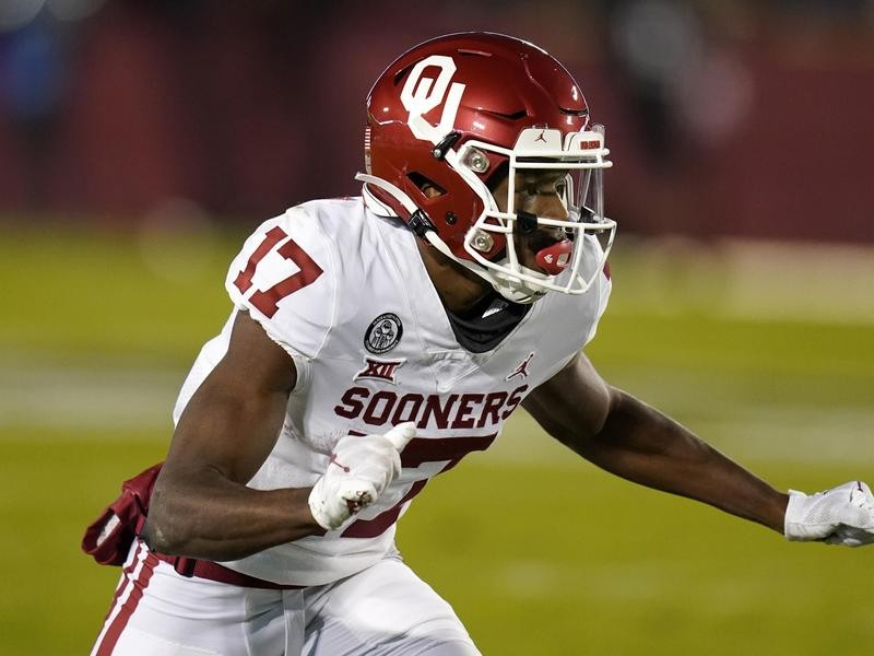 University of Oklahoma wide receiver Marvin Mims