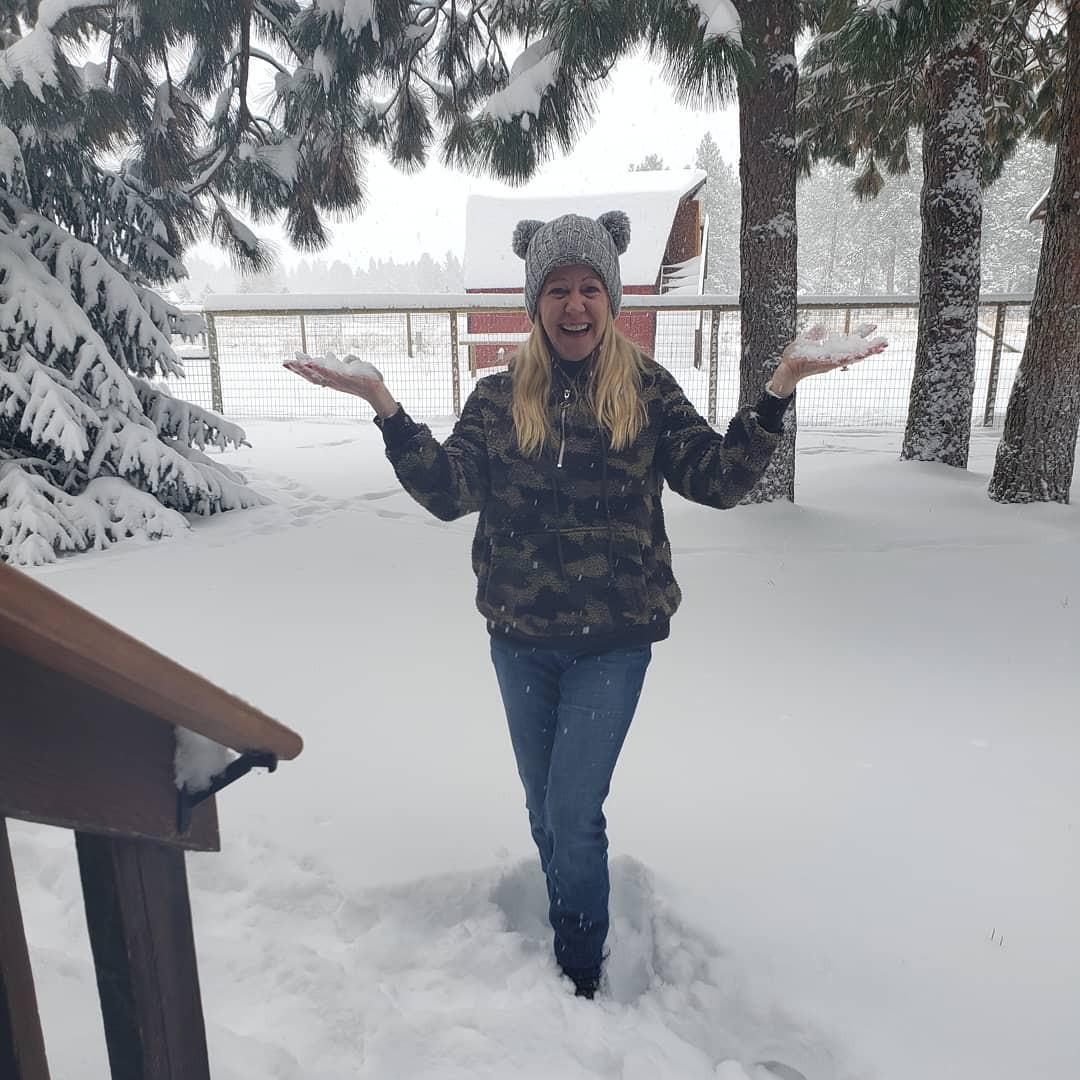 Tonya Harding in the snow