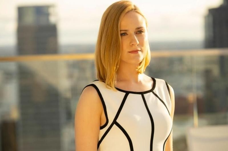Evan Rachel Wood on a rooftop