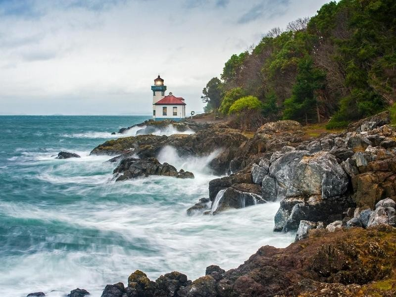 Lighthouse in San Juan Islands, Washington
