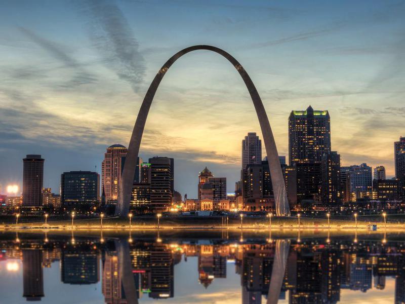 St. Louis Skyline at Sunset